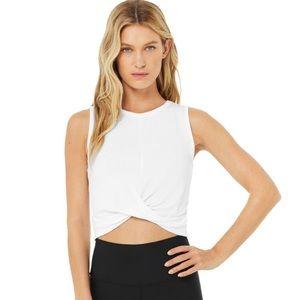 Alo Yoga Cover Crop White Crop Tank